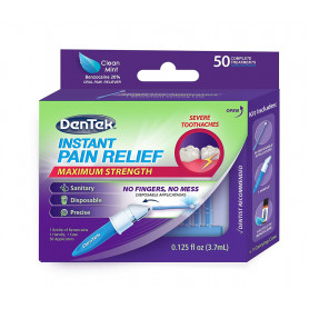 DenTek Maximum Strength Clean Mint Oral Pain Reliever, 50 count, 0.125 fl oz