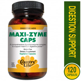 Country Life Maxi-zyme , 120-Count