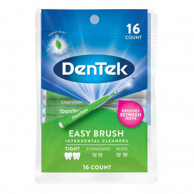 Dentek Easy Brush Cleaners Extra Tight Spaces 16 Count