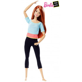 Barbie Made to Move Doll, Light Blue