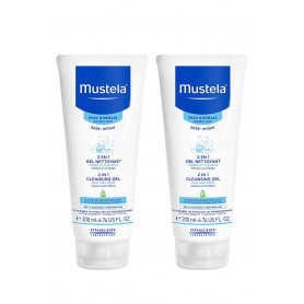 Mustela 2-in-1 Cleansing Gel for Hair and Body, 16.4 oz.