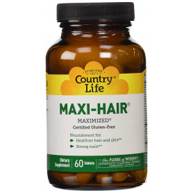 Country Life Maxi Hair TR, 60 Tabs