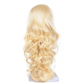 "OneDor 23"" Curly 3/4 Ladies Half Wig Kanekalon Hair Synthetic Wigs with Comb on a Mesh Head Cap (613)"