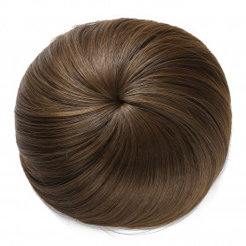 OneDor Synthetic Hair Bun Extension Donut Chignon Hairpiece Wig (8A-Light Chestnut Brown)