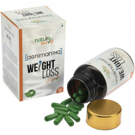 Nature Sure Agnimantha Weight Loss Formula Capsules - For Men and Women