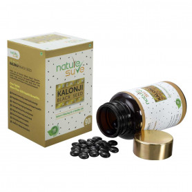 Nature Sure™ Premium Kalonji Tablets for Men and Women (extracted from Black Seed/ Nigella sativa seeds) – 1 Pack (90 Tablets)