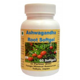 Tonga Herbs Ashwagandha Root Softgel  - 60 Softgels (Buy Any Supplement Get The Same 60ml Drops Free)