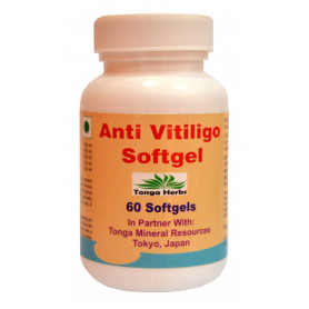 Tonga Herbs Anti  Vitiligo Softgel - 60 Softgels (Buy Any Supplement Get The Same 60ml Drops Free)