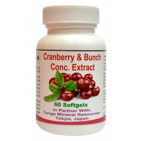 Tonga Herbs Cranberry And Bunch Conc. Extract Softgel - 60 Softgels (Buy Any Supplement Get The Same 60ml Drops Free)