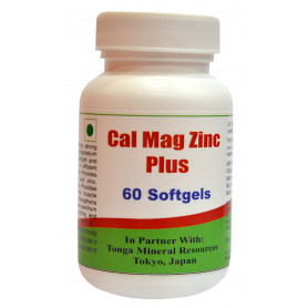 Tonga Herbs Cal Mag Zinc Plus Softgel - 60 Softgels (Buy Any Supplement Get The Same 60ml Drops Free)