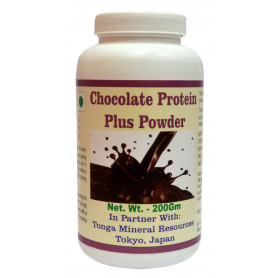 Tonga Herbs Chocolate Protein Plus Powder - 200Gm (Buy Any Supplement Get The Same 60ml drops Free)