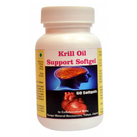 Tonga Herbs Krill Oil Support Softgel - 60 Softgels (Buy Any Supplement Get The Same 60ml Drops Free)