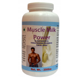 Tonga Herbs Muscle Milk Power Powder - 200Gm (Buy Any Supplement Get The Same 60ml drops Free)