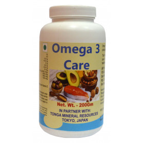 Tonga Herbs Omega 3 Care Powder - 200Gm (Buy Any Supplement Get The Same 60ml drops Free)
