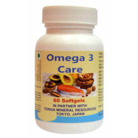 Tonga Herbs Omega 3 Care Softgel - 60 Softgels (Buy Any Supplement Get The Same 60ml Drops Free)