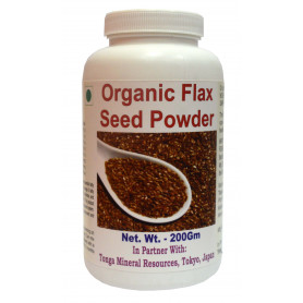Tonga Herbs Organic Flax Seed Powder - 200Gm (Buy Any Supplement Get The Same 60ml drops Free)