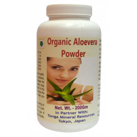 Tonga Herbs Organic Aloevera Powder - 200Gm (Buy Any Supplement Get The Same 60ml drops Free)