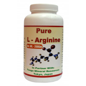 Tonga Herbs Pure L-Arginine Powder - 200Gm (Buy Any Supplement Get The Same 60ml drops Free)