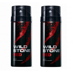 Wild Stone Red Body Deodorant 200ml - (Pack OF2)