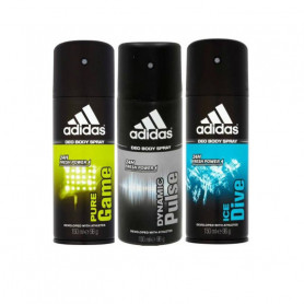 Adidas Dynamic Pulse Ice Dive Pure Game Body Spray - For Men  (150ml, Pack of 3)