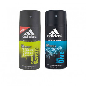 Adidas PURE GAME + ICE DIVE Deodorant Spray - For Men  (150 ml, Pack of 2)