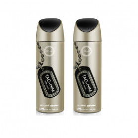 Armaf 2 Tag him Body Spray - For Men  (200 ml, Pack of 2)
