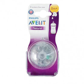 Philips Avent Natural Teat Twin Pack(0m+)