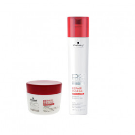 Schwarzkopf BC Repair Rescue Reversilane Pack of 2 (Shampoo 250ML + Mask 200ML)