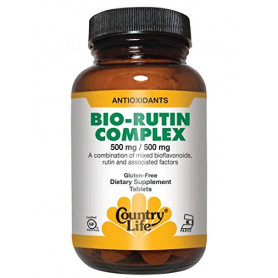 Country Life Citrus Bioflavonoid/Rutin Complex, 90 Tabs 500 MG