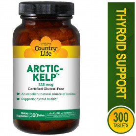Country Life, Artic-Kelp, 225 mcg, 300 Tablets.