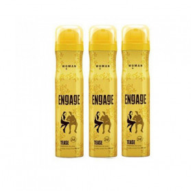 ENGAGE TEASE DEODORANT SPRAY FOR WOMEN (150ML-PACK OF 3)