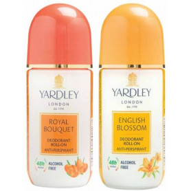 Yardley English Blossom and Royal Bouquet Roll on (50 ml, Pack of 2) For Women