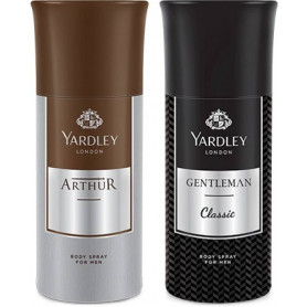 Yardley Gentleman And Arther Deo for Men (Pack Of 2) 150ml Each