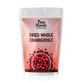 True Elements Dried Whole Cranberries 500gm
