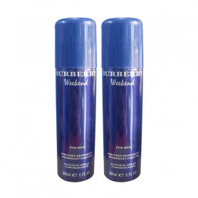 Burberry Weekend Deodorant 200Ml (Pack Of 2)