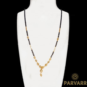 Parvarr Gold Plated Mangalsutra Pendant with Chain for Women