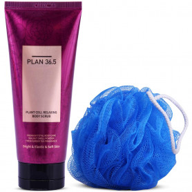 Plant Cell Relaxing Body Scrub by Plan 36.5 1pc with  Loofah