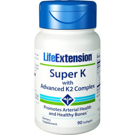 Life Extension Super K with Advanced K2 Complex, 90 Softgels