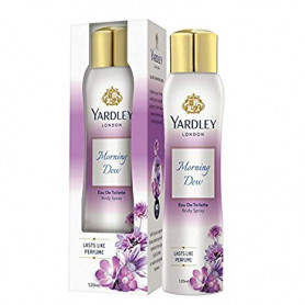 Yardley morning Dew Eau de Toilette, Mist, 120ml  For Women