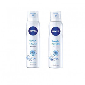 NIVEA FRESH NATURAL DEODORANT FOR WOMEN, 150ML-Pack of 2