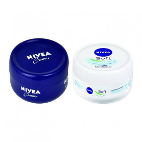 NIVEA SOFT LIGHT MOISTURIZER 200 ML+ NIVEA CREME 200 ML
