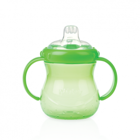 Nuby No Spill Grip N Sip Cup With Cover Green - 300 ml