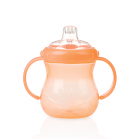Nuby No Spill Grip N Sip Cup With Cover Orange - 300 ml