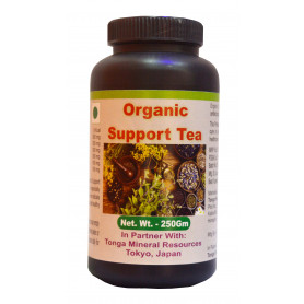 Tonga Herbs Organic Support Tea - 250 Gm (Buy Any Supplement Get The Same 60ml Drops Free)