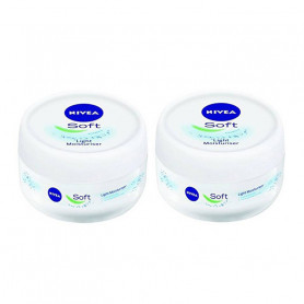 NIVEA SOFT LIGHT MOISTURIZER, 200ML-PACK OF 2
