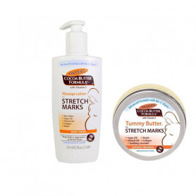 Palmer Stretch Marks (Massage Lotion250ML + Tummy Butter125g) Combo