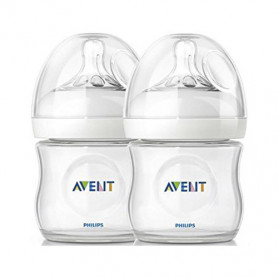 Philips Avent 125ml Natural Feeding Bottle (Clear, Twin Pack)