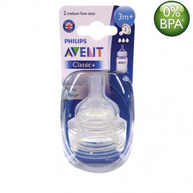 Philips Avent Classic Nipples (3M+) Twin Pack