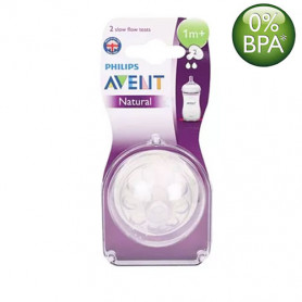 Philips Avent Natural Nipples (1M+) Twin Pack
