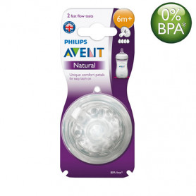 Philips Avent Natural Nipples (6M+) Twin Pack